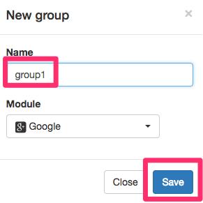 「Name」を設定し、「Save(保存)」をクリック